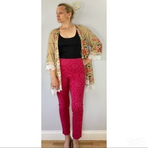 The Essential Skinny by Anthropologie brocade pant